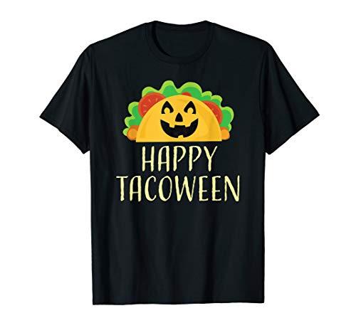 Happy Tacoween Taco Food Halloween Shirts Pumpkin Pun -
