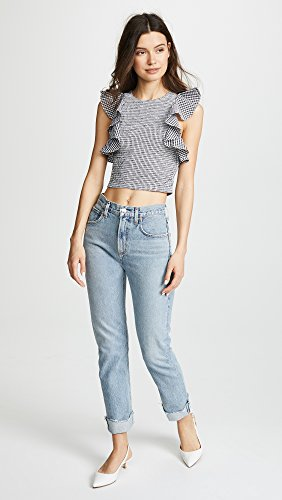 C/Meo Collective Women's Best Love Top, Black Check, Small by C/Meo Collective (Image #5)