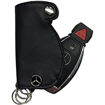 Genuine mercedes benz red leather key cover for Mercedes benz key cover