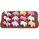 Dinosaur Ice Cube Chocolate Soap Tray Mold Silicone Party maker (Ships From USA)
