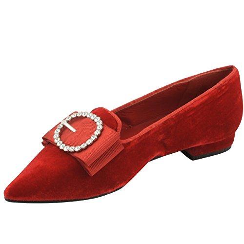 Para Bailarinas Rojo de Exclusif Paris Mujer Lona PTqfIxA