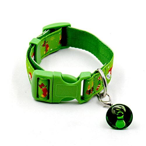 Dog Collar, Bolayu Christmas Design Christmas Pet Collars (L, Green) (Cat Dog Halloween)