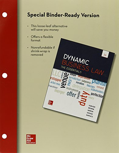 Dynamic Business Law:Essentials (Loose)