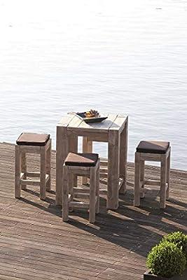 Ante Neo Viktoria - Conjunto de Muebles de Bar de diseño, Madera, Juego de 5 Piezas, Muebles de jardín, Mesa Alta, taburetes, Muebles de Bar, Muebles de jardín, Muebles de Exterior: Amazon.es: