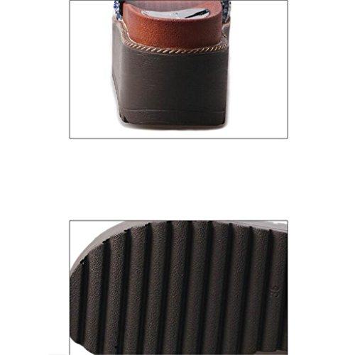LIXIONG Portátil Pantuflas de tacón alto de verano Pendiente con sandalias femeninas de desgaste exterior Suelas gruesas de los zapatos de playa -Zapatos de moda ( Color : B , Tamaño : EU39/UK6/CN39 ) B