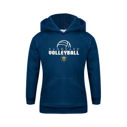 Vanguard Youth Navy Fleece Hoodie Volleyball Design