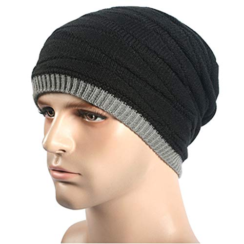 Knitting Beanie Lana 1 Hats Winter Cap para IRONLAND Mujeres Hombres y Skull Warm xSq4dXn