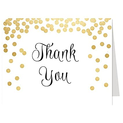 amazon com thank you cards confetti bridal shower wedding baby