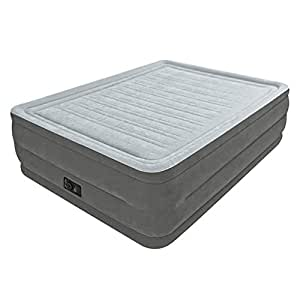 """Intex Comfort Plush Elevated Dura-Beam Airbed with Built-in Electric Pump, Bed Height 22"""", Queen"""
