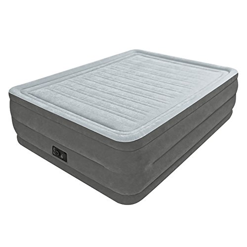 Intex Comfort Plush Elevated Dura-Beam Airbed with Built-in Electric Pump, Bed Height 22