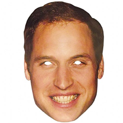 Partyrama Prince William Celebrity Cardboard Mask - Single (Ideas For Masquerade Masks)