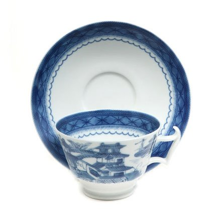 Mottahedeh Blue Canton Tea Cup & Saucer 4 in -