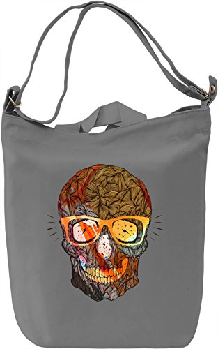 Funny Skull Borsa Giornaliera Canvas Canvas Day Bag| 100% Premium Cotton Canvas| DTG Printing|