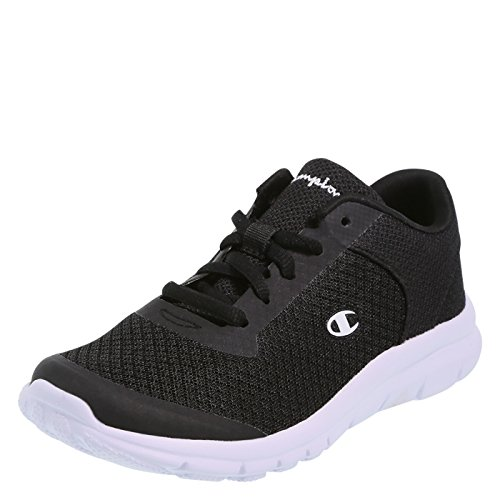 Youth Athletic Shoes (Champion Boy's Black White Performance Gusto Cross Trainer Big Kid Size 5.5 Regular)
