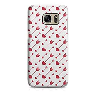 Samsung S7 Case Cute Lovely Heart Pattern For Valentines Day, Great For Girls Sleek Durable Scratch Resistant Samsung S7 Cover Wrap Around 64