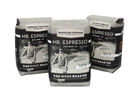 Mr. Espresso Coffee, Certified Organic by CCOF and Certified Fair Trade Golden Gate House (Medium Roast Whole Coffee Beans)