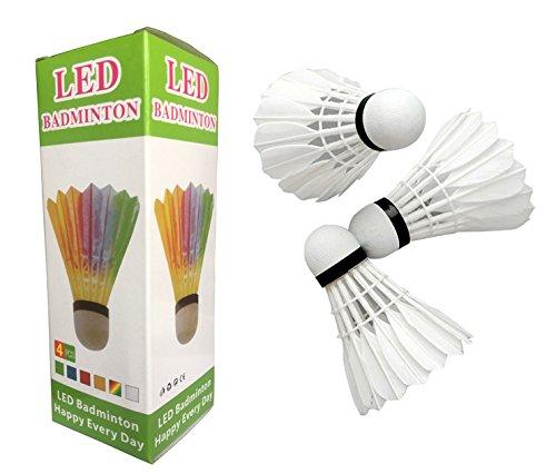 HONGZHESHEN LED Badminton Shuttlecocks goose Feather Professional Quality Shuttlecock Shuttlecock Dark Night Glow Birdies Lighting For
