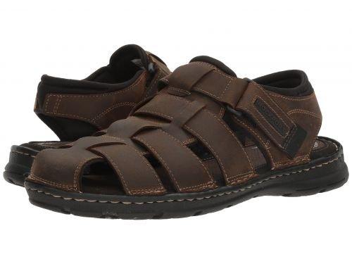 Rockport(ロックポート) メンズ 男性用 シューズ 靴 サンダル フラット Darwyn Fishermen - Brown II Leather [並行輸入品] B07BL47BVY 8 M (D)