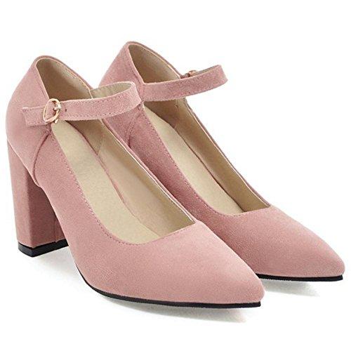 Fibbia Tacco Pink Scarpe Donna con RAZAMAZA wOxqYgTW