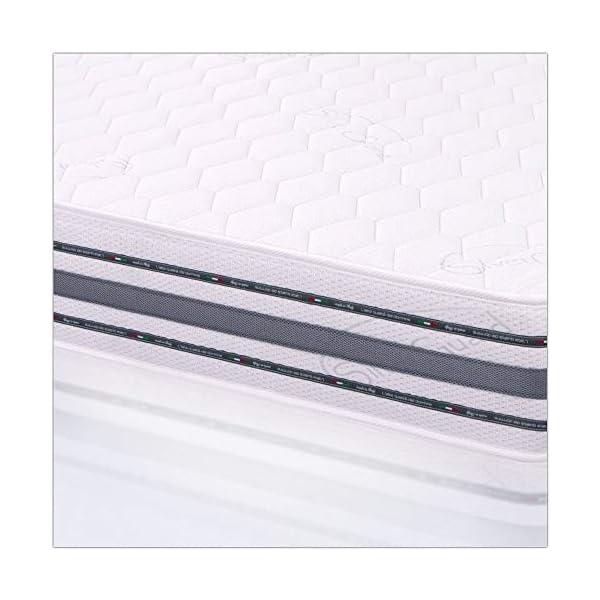 MiaSuite Materasso Ergonomico Singolo Alto 22 cm Lastra in memory rivestimento silver non sfoderabile 6 spesavip