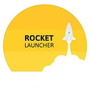 alfombrilla de ratón cohete amarilla y blanca nube, icono de estilo plano, vector - ronda - 20cm