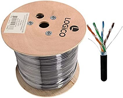 Cat5e Outdoor 1000ft Ethernet Cable Black