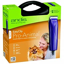 Andis Easyclip Pro-animal 7-piece Detachable Blade Clipper Kit, Animaldog Grooming, Purple Mbg-2 (21420)