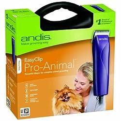 Andis Easyclip Pro-animal 7-piece Detachable Blade Clipper Kit, Animaldog Grooming, Purple Mbg-2 (21420)