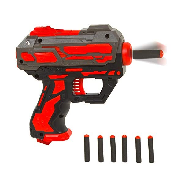 Baybee High Speed Manual Rubber Soft Bullet Blaster Gun with 6 Foam Bullets – Real Gun Toy Set for Kids