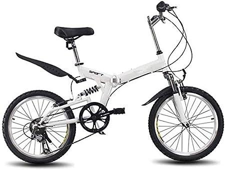 HFFFHA Ciudad de Peso Ligero de aleación de Bicicleta Plegable de la Bicicleta, 6 de Velocidad Variable Ultra Ligero de la Bicicleta al Aire Libre, Guardabarros Delantero y Trasero, Bicicletas Acero: Amazon.es: