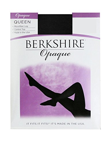 Berkshire Women's Plus-Size Queen Microfiber Matte Opaque Tight 4808, Black, 5X-6X