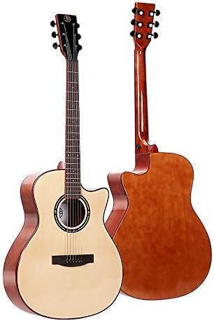 ミニアコースティックギター 41インチスプルースウッドギター大人のクラシックギタートラベルギターのために男性と女性 初心者 入門 (Color : A, Size : 41 inch)
