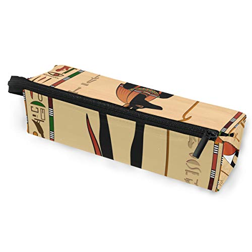 Toprint Ancient Ethnic Egyptian Egypt Glasses Bag Pouch Portable Travel Zipper Light Sunglasses Case Pencil Case Cosmetic Bag