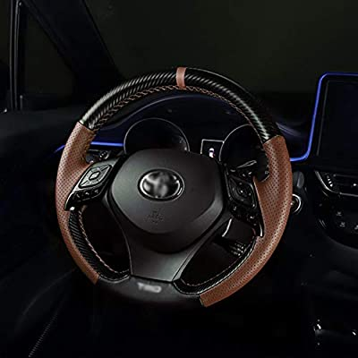 Car Steering Covers Black and Brown Leather Cover for Toyota CHR 2020 2020: Automotive