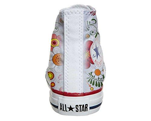 CONVERSE personalizzate All Star Sneaker unisex (Prodotto Artigianale) Floral Paisley