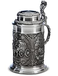 Pewter Beer Stein With Carriage By Artina 0 6 Liter