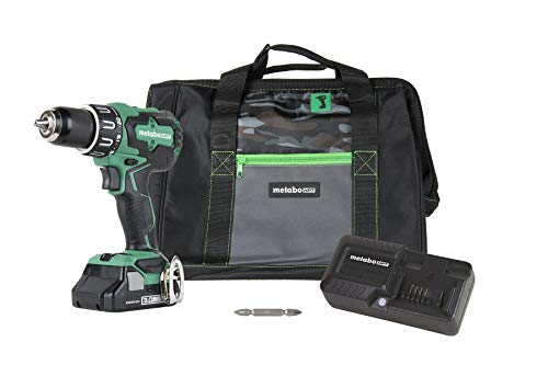 Metabo HPT DV18DBFL2S 18V Cordless Brushless Hammer Drill Kit, Includes 3.0 Ah Lithium Ion Battery, Built-in LED Light, 1/2-Inch Keyless All-Metal Chuck, Drill & Hammer Mode, Lifetime Tool Warranty