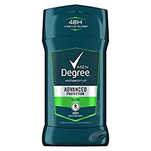 Degree Men Advanced Protection Antiperspirant Deodorant Invisible Solid, Clean, 2.7 oz