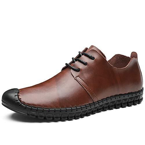 rougedish marron 41 EU SCSY-Chaussures Oxford Oxford pour Hommes Mode Décontracté Léger Et Flexile Chaussures Schematic Toe résistant à la Collision (Couleur   rougedish marron, Taille   41 EU)