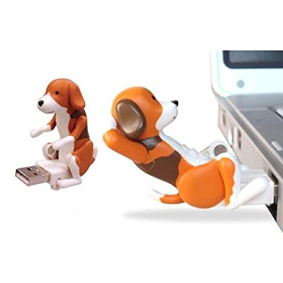 Vktech USB Hump Dog Funny Humping Spot Dog Christmas Toy Gift (Coffee)