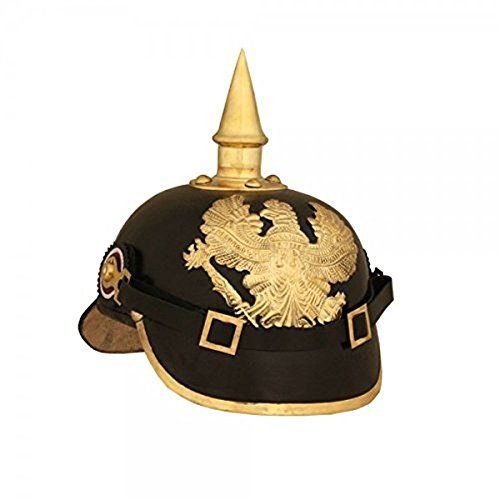 [Ectoria EC01-068.A German Pickelhaube Imperial Prussian/ Officer Helmet] (German Officer Hat Costume)