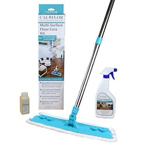 Cal-Flor P Multi-Surface Floor Care Kit for use on Wood, Lam
