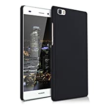 kwmobile Handy and sturdy rubberised HARD CASE for the Huawei P8 Lite (2015) in black