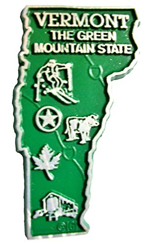 (Vermont State Map Fridge Magnet)