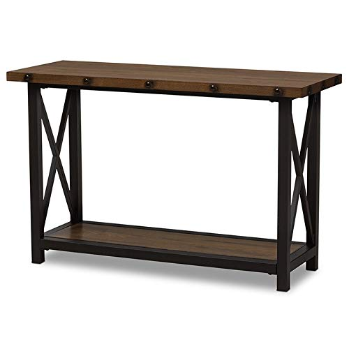 - Baxton Studio Console Table in Brown and Black