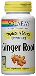 Solaray Organic Ginger Root Supplement, 540 mg, 100 Count