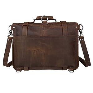 Wildken Genuine Leather Briefcase, Men's Shoulder Handbag Messenger Laptop Bag