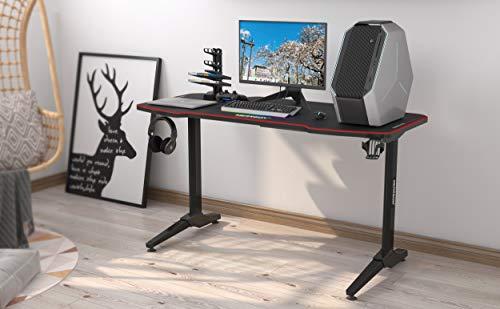 Wearson 140 x 65 cm Ordinateur de Bureau Table Gaming WS1465