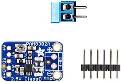 Audio IC Development Tools Adafruit Mono 2.5W Class D Audio Amplifier – PAM8302 1 piece