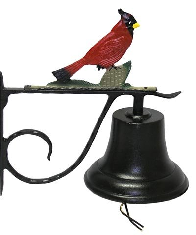 Whitehall Products Decorative Bell with Cardinal, Large, Multicolored Review